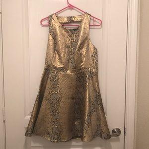 Ark & Co Gold Snake Dress! Worn once!